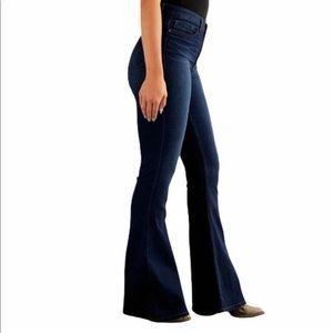 BKE Dark Wash Parker Universal Fit High Rise Super Flare Jeans